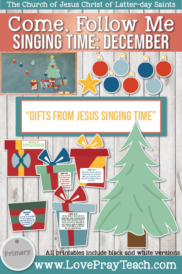 "Come, Follow Me for Primary-2019 December: Singing Time: ""Gifts From Jesus Singing Time"""