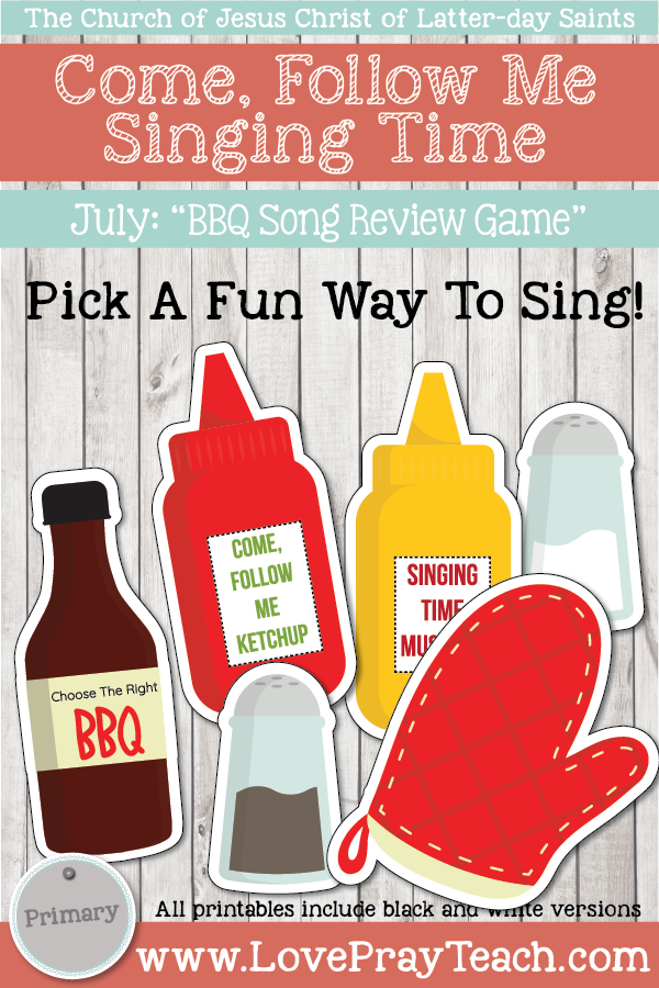 "Come, Follow Me for Primary-2019 July: Singing Time: ""Summer BBQ Review Game"""
