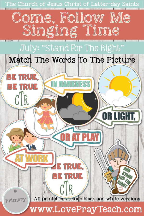 "Come, Follow Me for Primary-2019 July: Singing Time: ""Stand For The Right"""