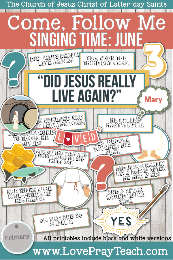 "Come, Follow Me for Primary-2019 June: Singing Time: ""Did Jesus Really Live Again?"""
