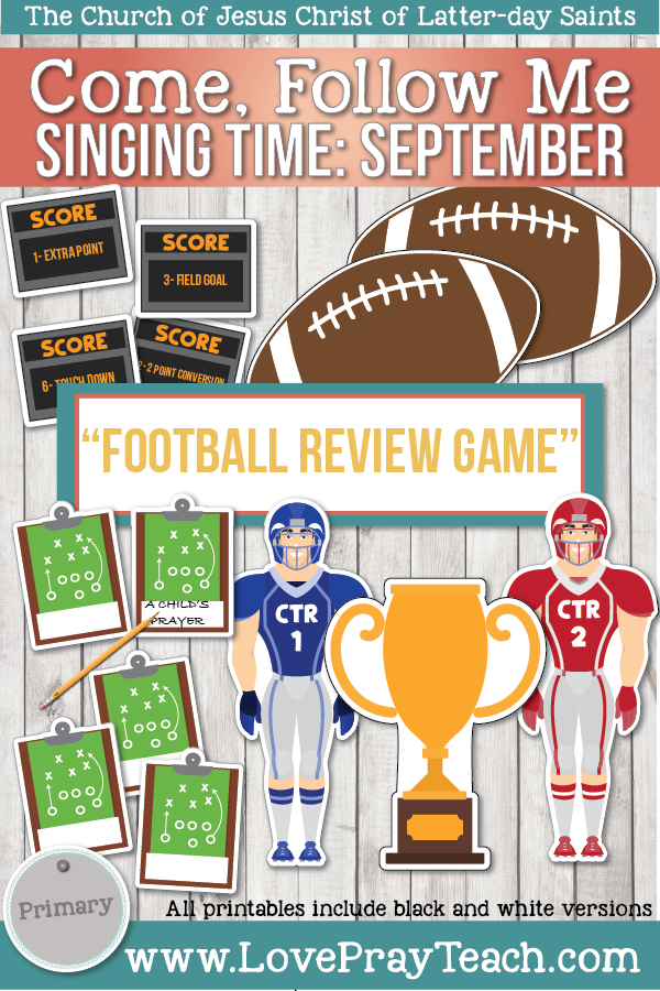 """Come, Follow Me for Primary-2019 September: Singing Time: """"Football Review Game"""""""