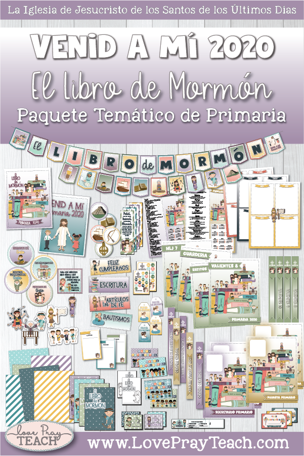 Download 2020 Primaria Theme Packet Espanol