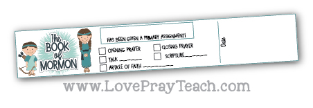 2020 Book of Mormon Come, Follow Me Primary Printable EXTRAS Packet www.LovePrayTeach.com