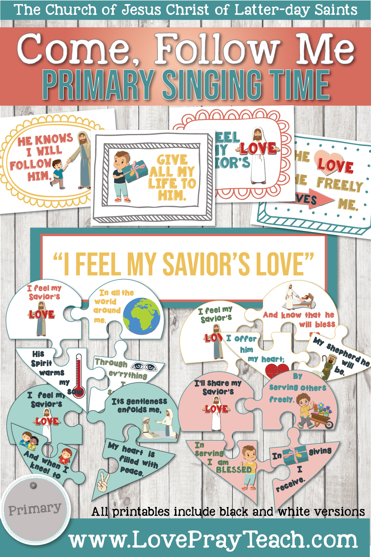 """I Feel My Savior's Love"" Printable Lesson Packet for the Primary Chorister! www.LovePrayTeach.com"