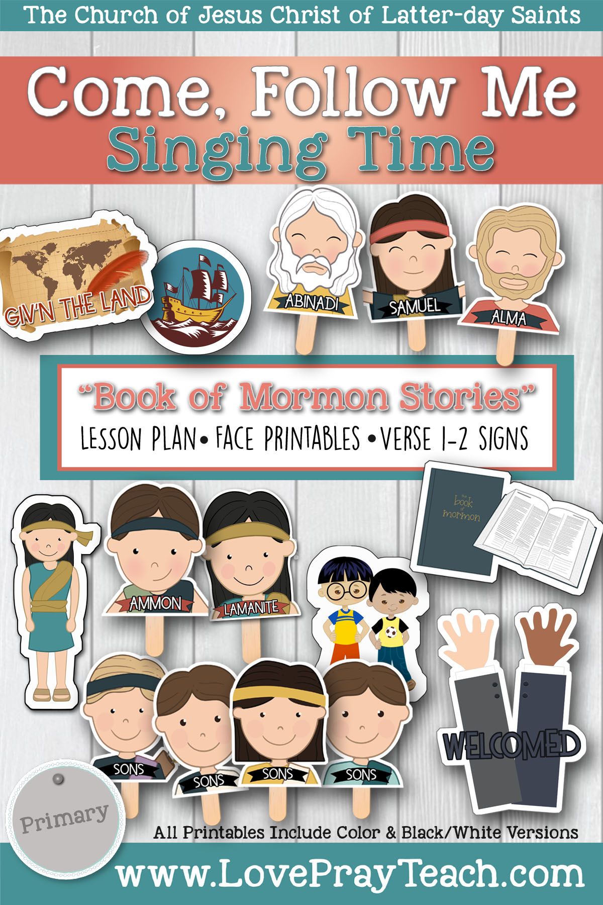 """Book of Mormon Stories"" Lesson Helps and Activity ideas for Latter-day Saint Primaries! www.LovePrayTeach.com"