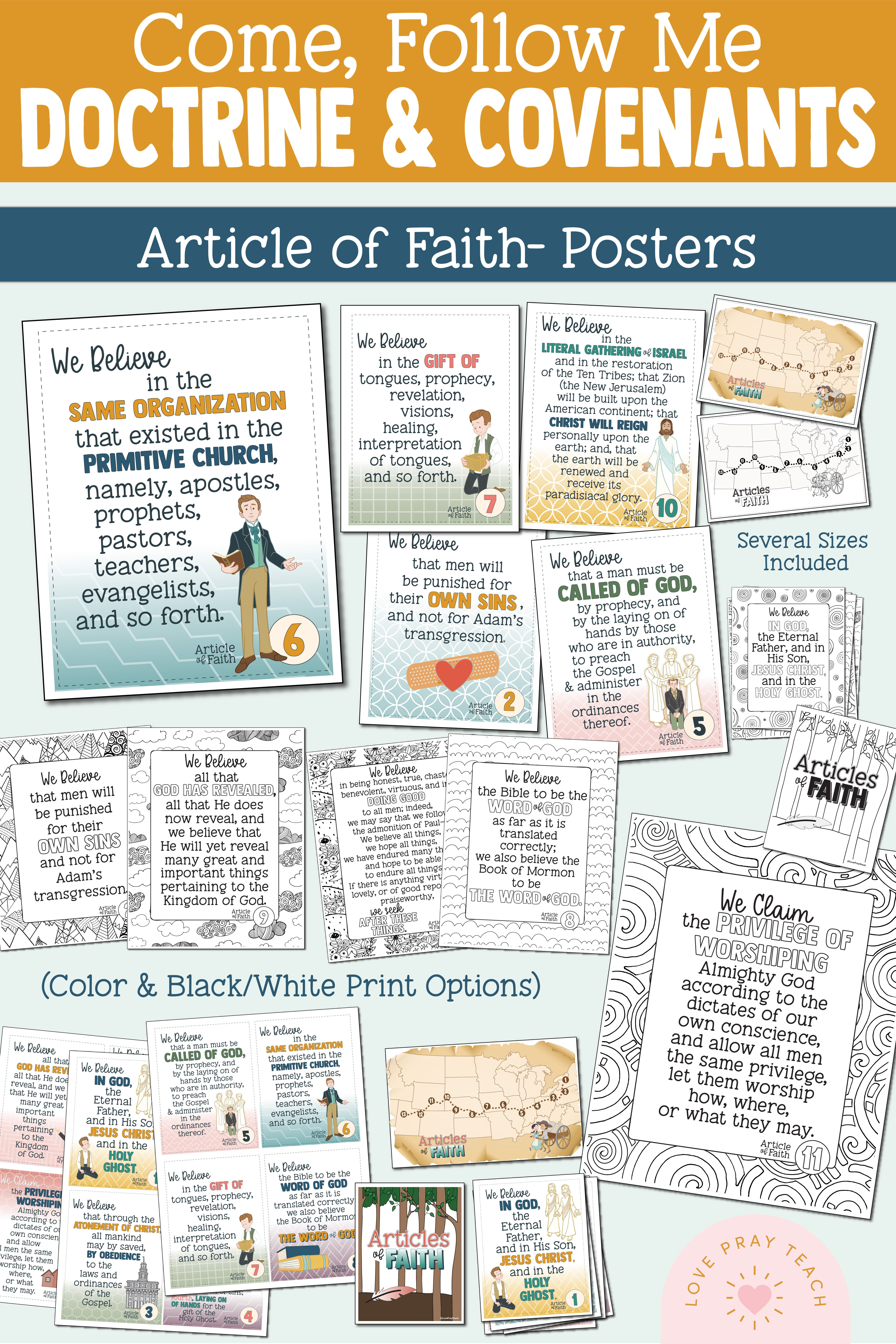 Primary 2021 Articles of Faith Packet