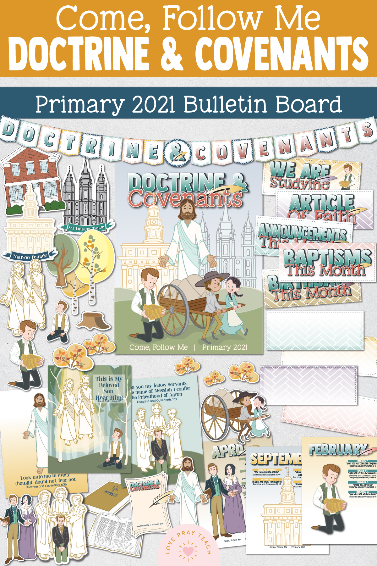 Come, Follow Me—For Primary: Doctrine and Covenants 2021 Download For Bulletin Board Essentials Packet!