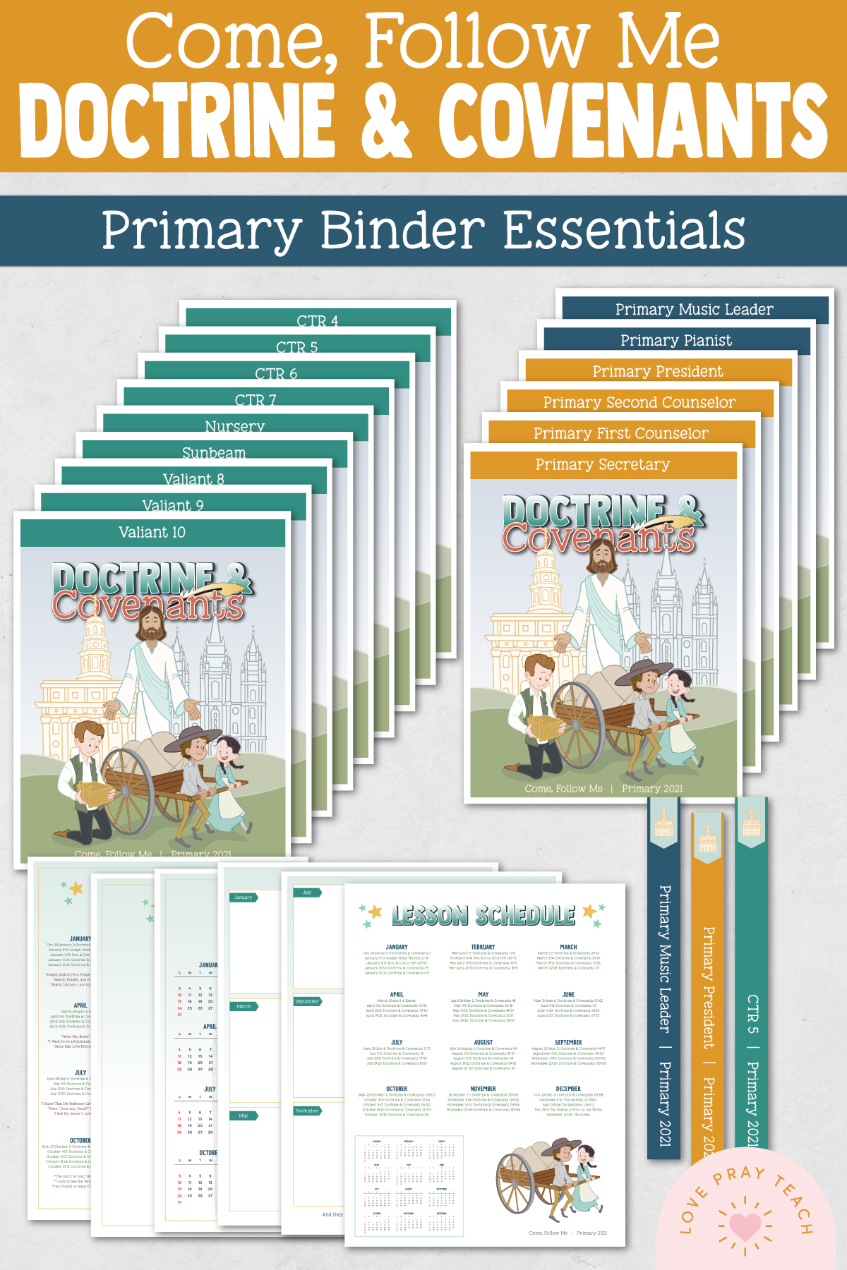 Come, Follow Me—For Primary: Doctrine and Covenants 2021 Download For Binder Essentials Packet!