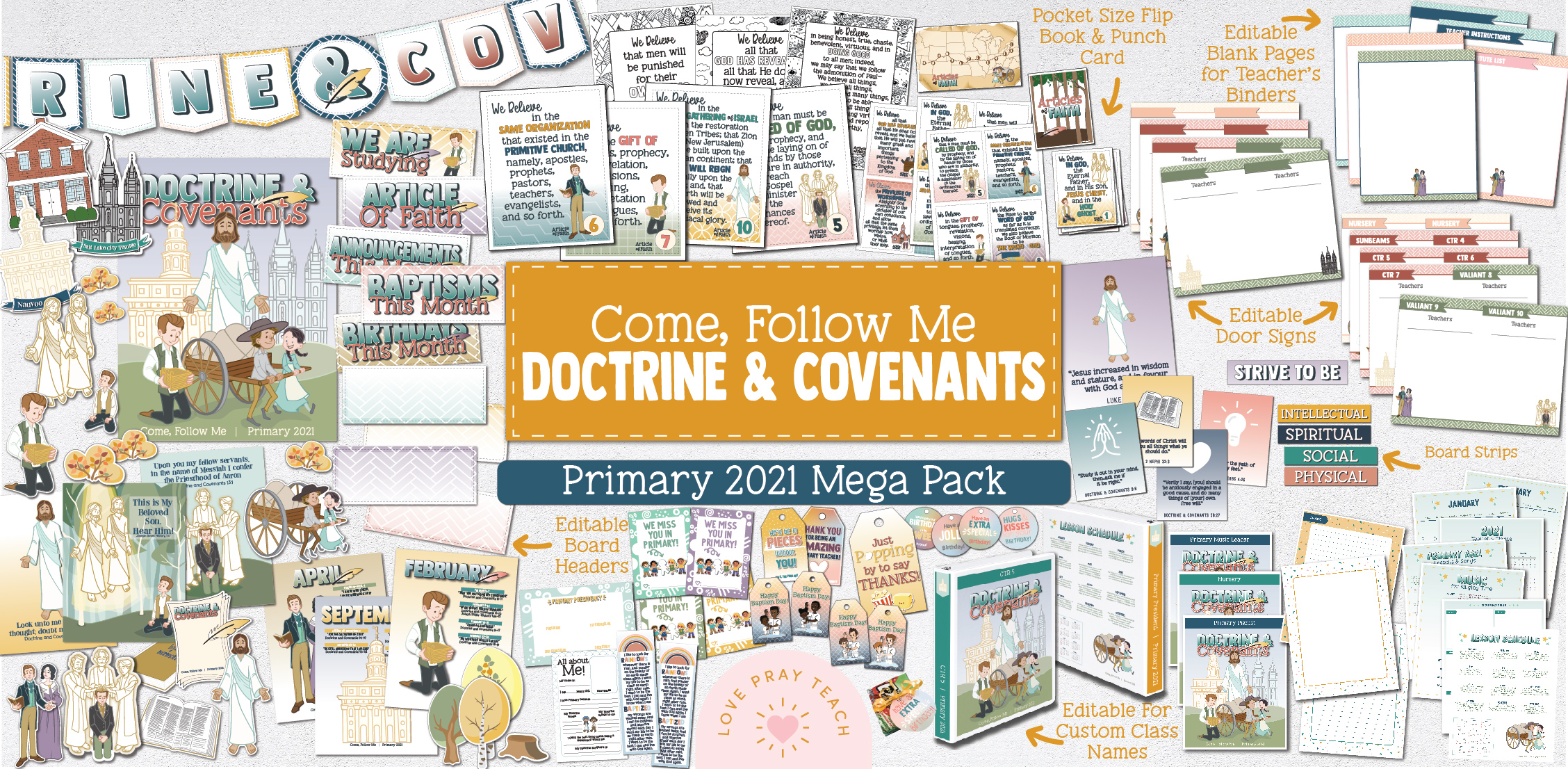 Come, Follow Me—For Primary 2021: The Doctrine & Covenants, Yearly Theme Packet for Subscribers