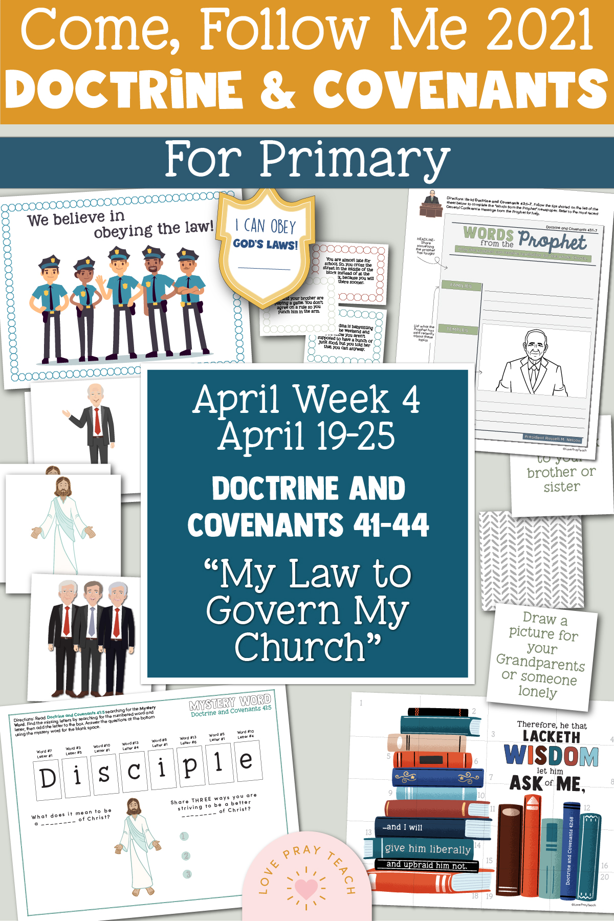Come, Follow Me for Primary 2021 April Week 3 Doctrine and Covenants 37-40