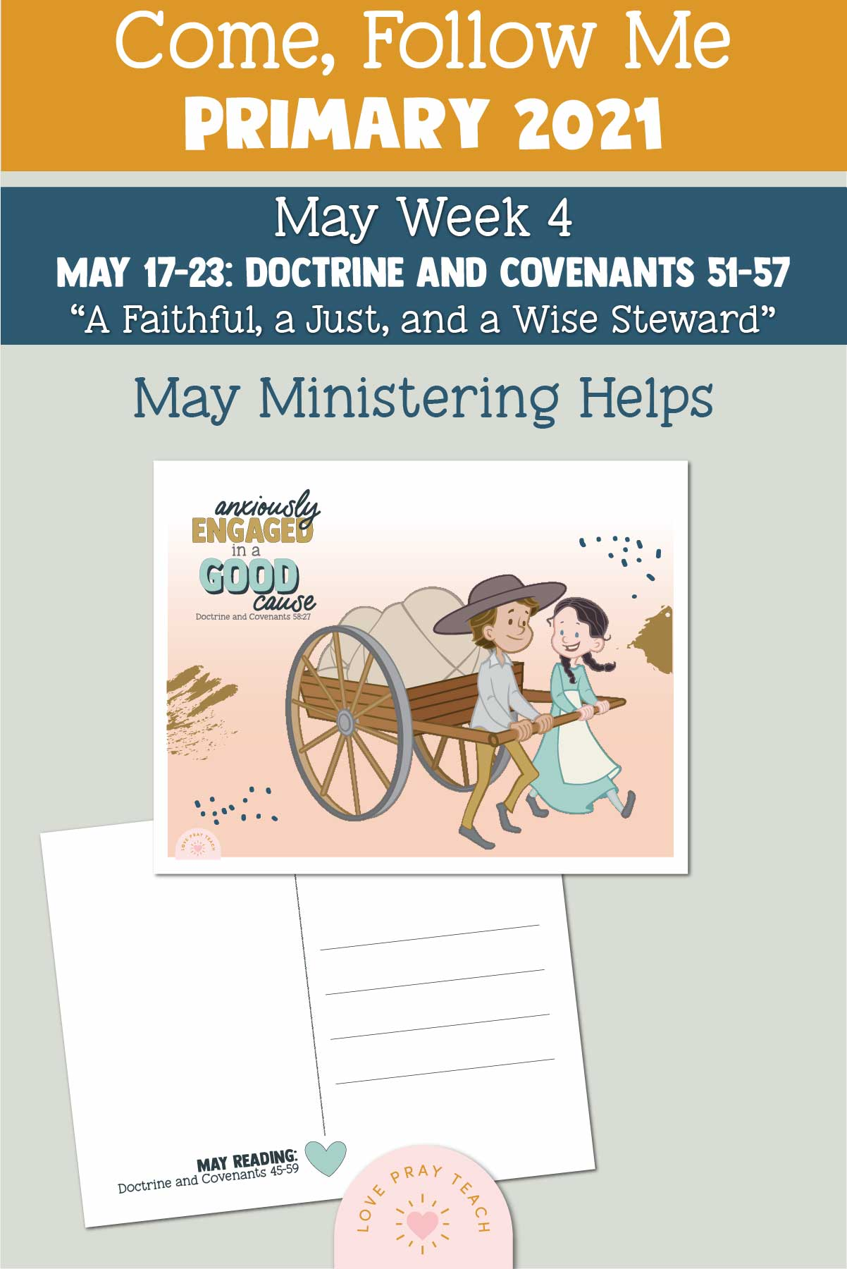 """Come, Follow Me for Primary 2021 May Week 1 Doctrine and Covenants 45 """"The Promises … Shall Be Fulfilled"""" Printable Lesson Materials"""
