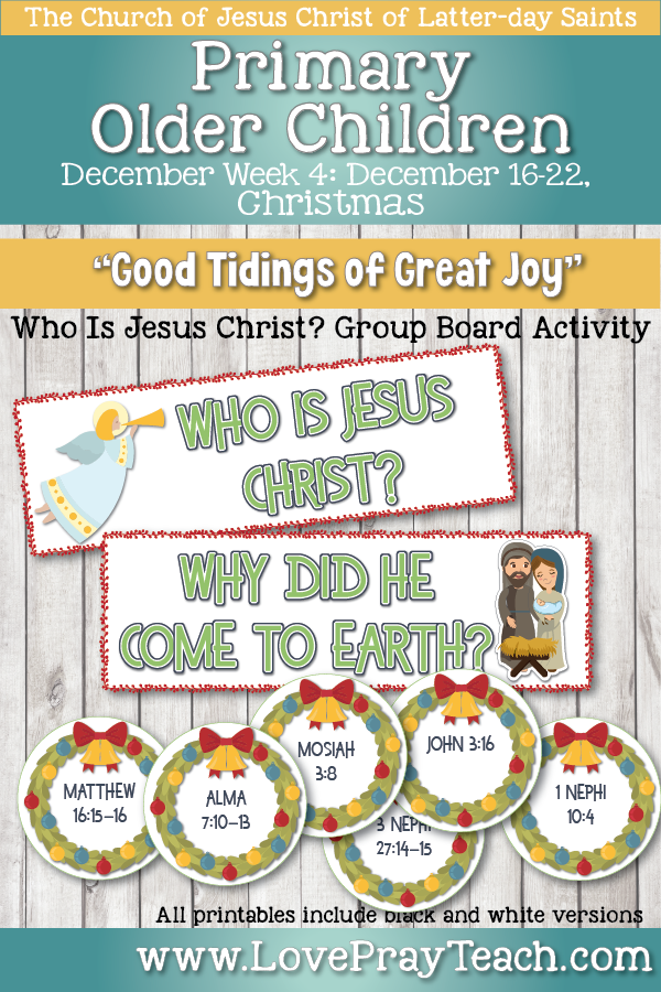 Come, Follow Me for Primary 2019- New Testament, December Week 4, December,16-22 Christmas